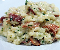 Risotto Carbonara with Pancetta, Onion & Thyme