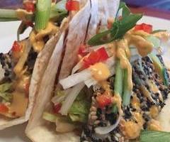 Sesame Lion Fish Tacos