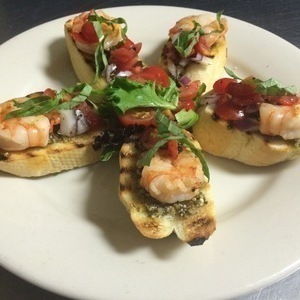 Shrimp & Pesto Bruschetta